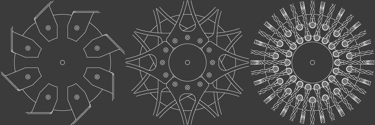 Coronas de madera de las lámparas CROÓ Rogal, Doce Lágrimas y Uguas