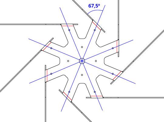 Angulos de doblado y de segmento de doblado de Rogal
